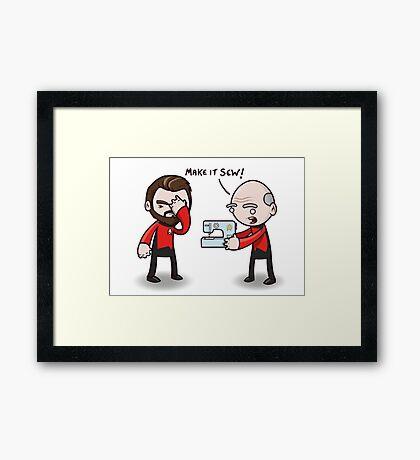 Make It Sew! - Star Trek Inspired Framed Print