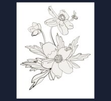 Bunch of spring anemones One Piece - Short Sleeve