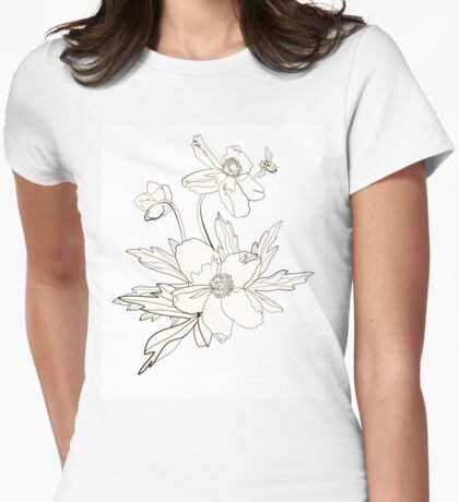 Bunch of spring anemones Womens Fitted T-Shirt