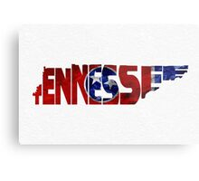 Tennessee Typographic Map Flag Metal Print