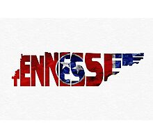 Tennessee Typographic Map Flag Photographic Print