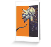 Into the black - Mr Spaceman Greeting Card