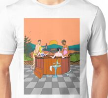 In the hot tub at dusk Unisex T-Shirt