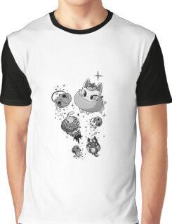 Fruit Cats Halloween Graphic T-Shirt