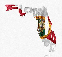 Florida Typographic Map Flag by A. TW