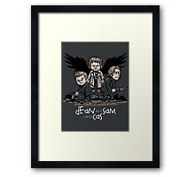 Dean and Sam and Cas Framed Print