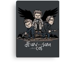 Dean and Sam and Cas Canvas Print