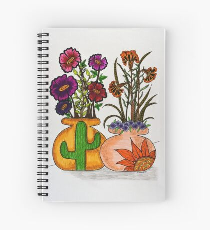 Flowers/7 - Southwest Spiral Notebook