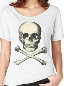 Vintage Skull and Crossbones. So scary! Women's Relaxed Fit T-Shirt