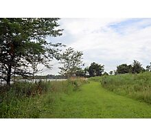 Trail along Mozingo Lake Photographic Print