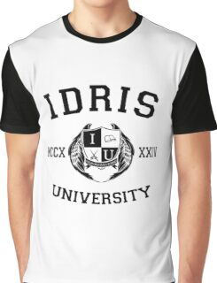 Idris University 1- Black Graphic T-Shirt