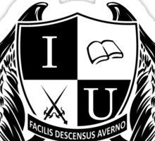 Idris University 1- Black Sticker