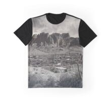 Superstition Mountains, Arizona - Tintype - Gold rush! Graphic T-Shirt
