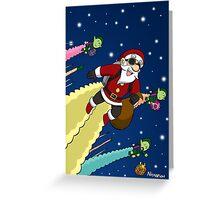 Jet Pack Santa Squadron Greeting Card