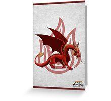 dragon zuko Greeting Card