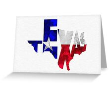 Texas Typographic Map Flag Greeting Card