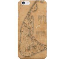 Vintage Map of Nantucket (1869) iPhone Case/Skin