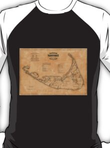 Vintage Map of Nantucket (1869) T-Shirt