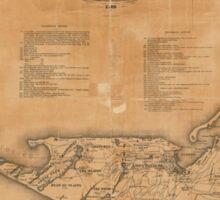 Vintage Map of Nantucket (1869) Sticker