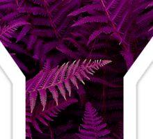 Y purple fern Sticker