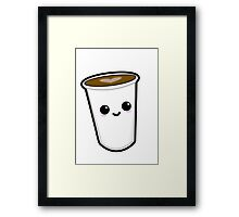 Kawaii Coffee Framed Print