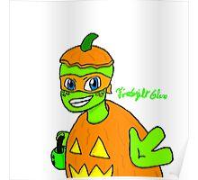 Pumpkin Mikey Poster