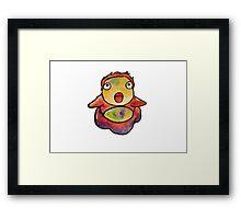 Cute Ponyo! Studio Ghibli Framed Print