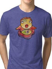 Cute Ponyo! Studio Ghibli Tri-blend T-Shirt
