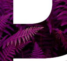 P purple fern Sticker