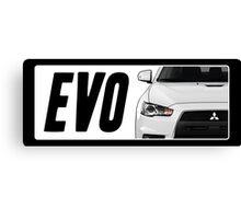 Mitsubishi Evolution (EVO) Logo [White] Canvas Print