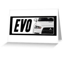 Mitsubishi Evolution (EVO) Logo [White] Greeting Card