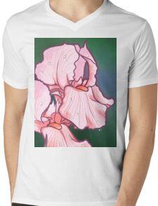 Iris Floral Design Mens V-Neck T-Shirt