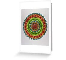 Mandala/1 - Roses Greeting Card