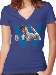 Chicago Cubs World Series Champions 2016 Bill Murray Women's Fitted V-Neck T-Shirt