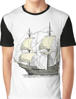 Vintage Sailing Ship Graphic T-Shirt
