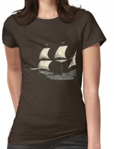 Vintage Sailing Ship Womens Fitted T-Shirt