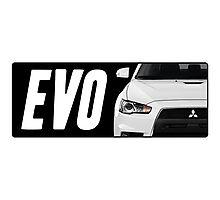 Mitsubishi Evolution (EVO) Logo [Black] Photographic Print