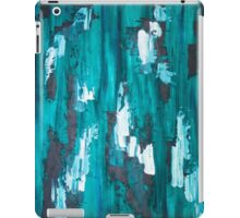 Teal Blue Abstract Art iPad Case/Skin