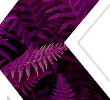 K purple fern Sticker