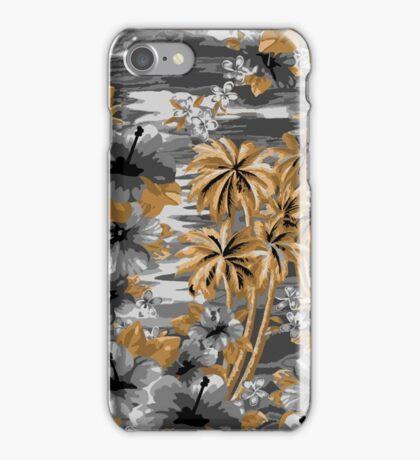 Nawiliwili Bay Hawaiian Island Tropical Scenic -silver and gold iPhone Case/Skin
