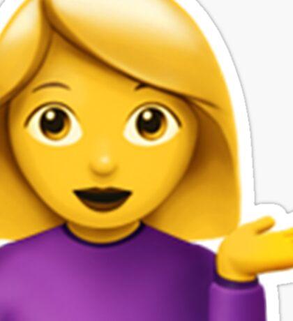 Emoji Hair Flip (Female) Sticker