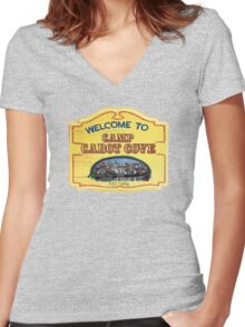 Welcome to Camp Cabot Cove Women's Fitted V-Neck T-Shirt