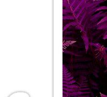 J purple fern Sticker