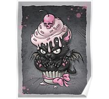 Goth Kitty in Cupcake Poster