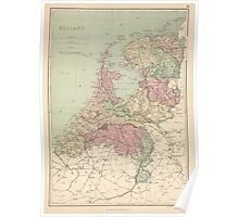 Vintage Map of Holland (1873)  Poster