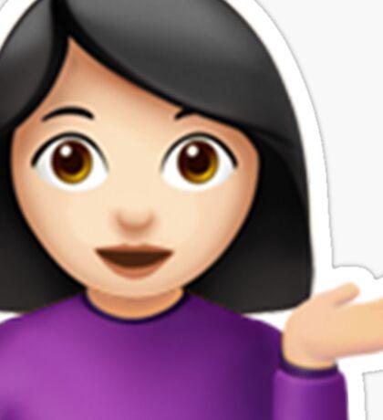 Emoji Hair Flip (White/Asian Female) Sticker