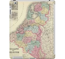 Vintage Map of Holland and Belgium (1856)  iPad Case/Skin