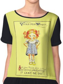 """""""WOMENS SUFFRAGE"""" Vintage (1930s) Advertising Print Chiffon Top"""