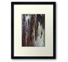 Brown Black Abstract Painting Framed Print