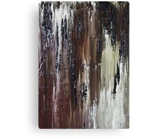 Brown Black Abstract Painting Canvas Print